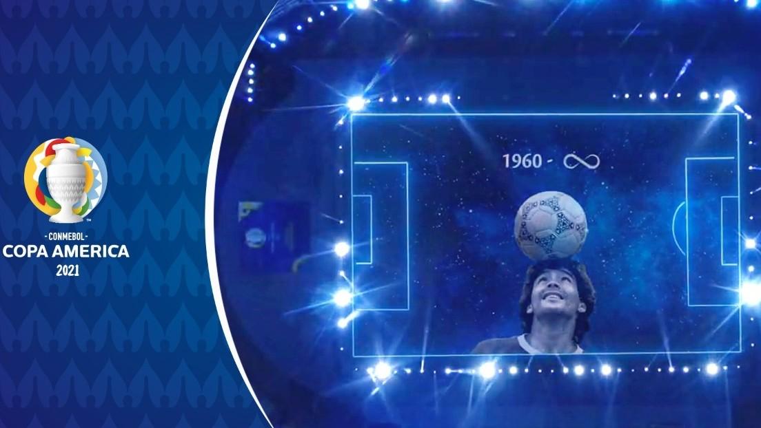 VIDEO: El emotivo homenaje a Diego Maradona antes del cruce entre Argentina y Chile por Copa América