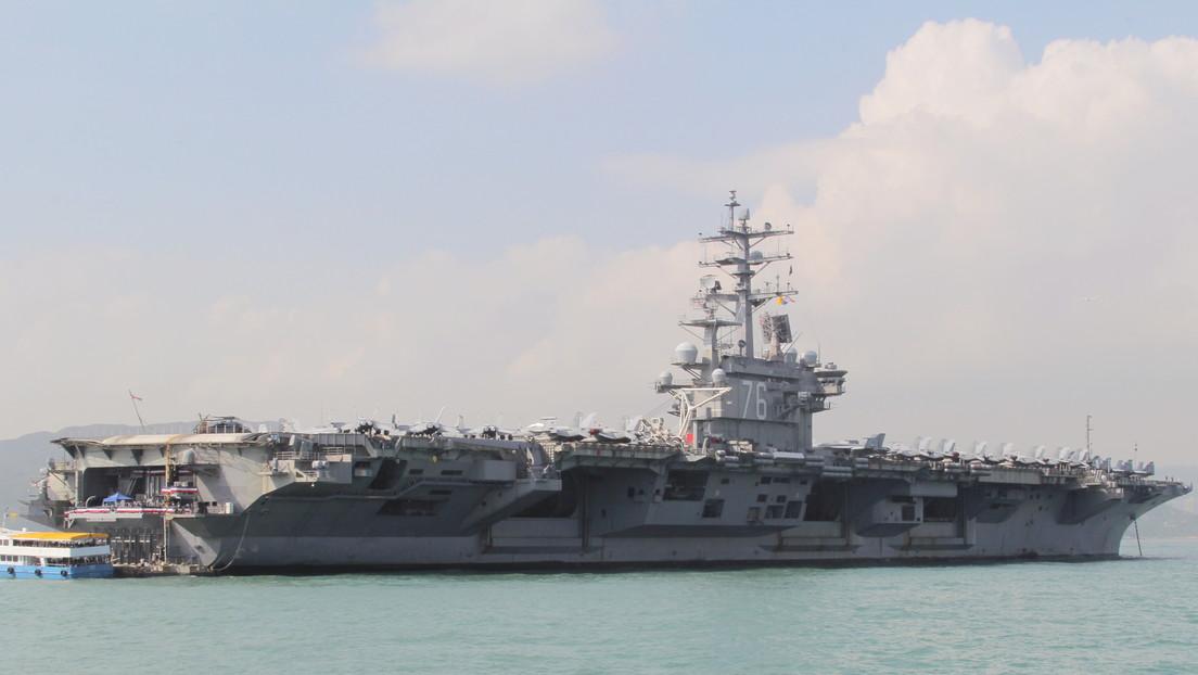 Un grupo de portaaviones de EE.UU. liderado por el USS Ronald Reagan ingresa al mar de la China Meridional