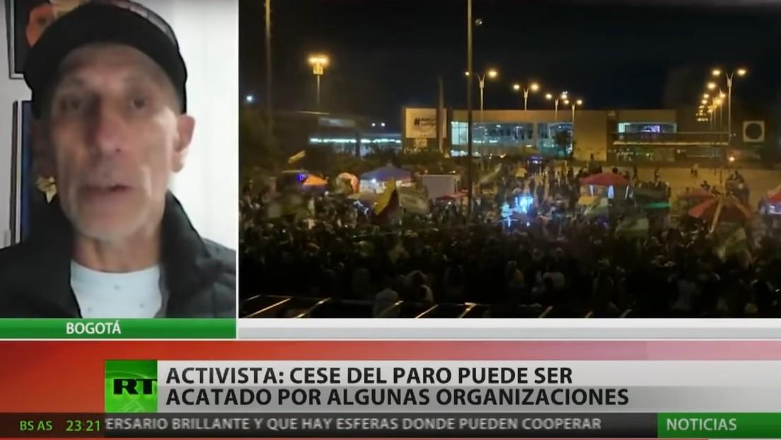 """Activista colombiano: """"Exigimos cambios estructurales que muy difícilmente se lograrán bajo este régimen autoritario y dictatorial"""""""