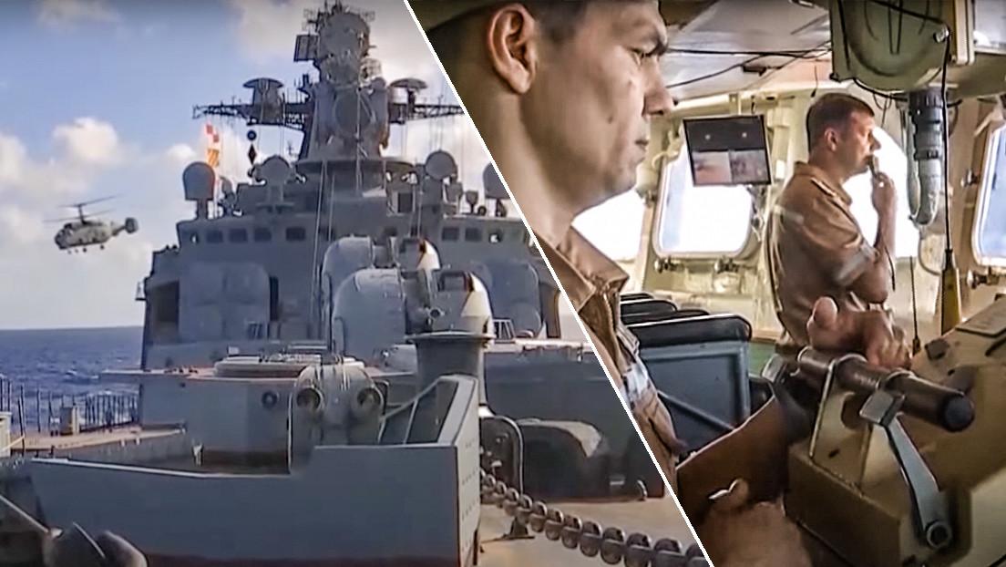 VIDEO: La Flota rusa del Pacífico realiza ejercicios militares conjuntos de todas sus fuerzas en la parte central del océano
