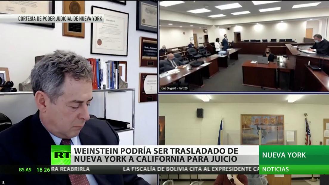 """Un juez de Nueva York decide extraditar a Harvey Weinstein """"lo antes posible"""" a California para un nuevo juicio"""