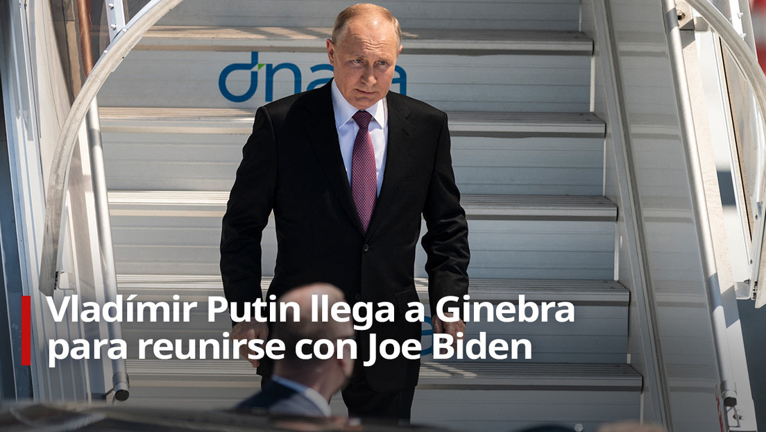 VIDEO: Vladímir Putin llega a Ginebra para reunirse con Joe Biden