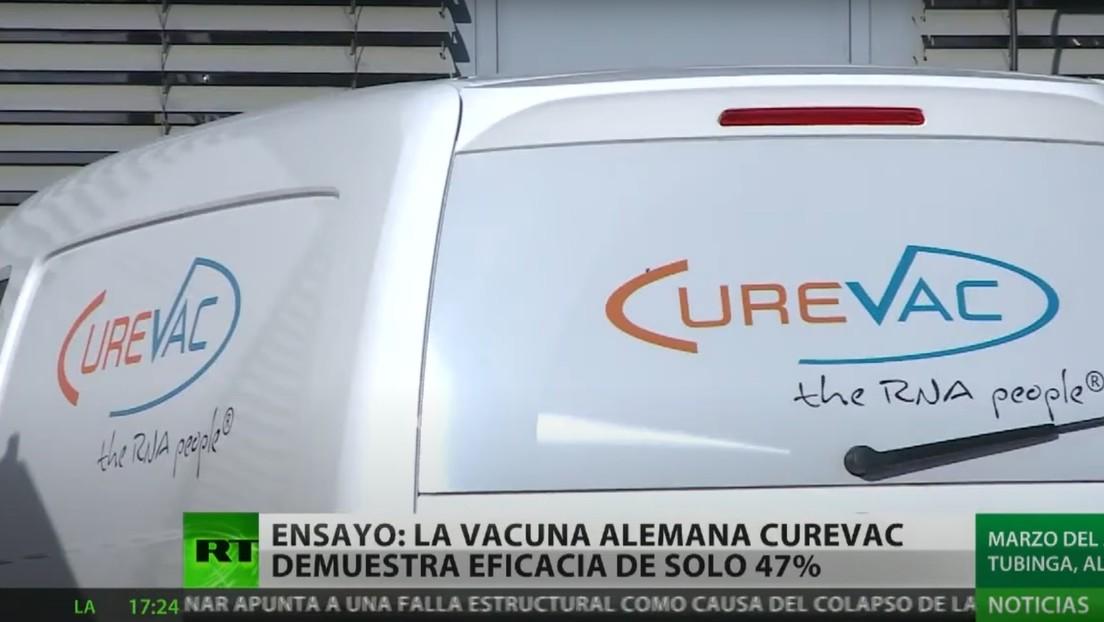 A solo 47 % llega la eficacia de la vacuna alemana CureVac contra el coronavirus