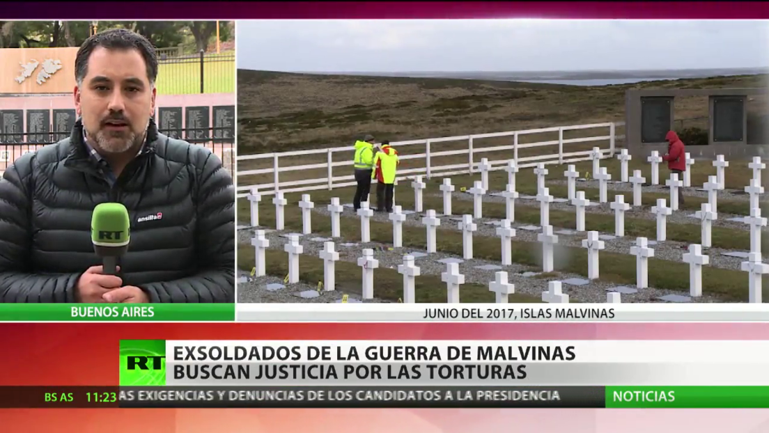 Exsoldados argentinos de la guerra de las Malvinas buscan justicia por las torturas