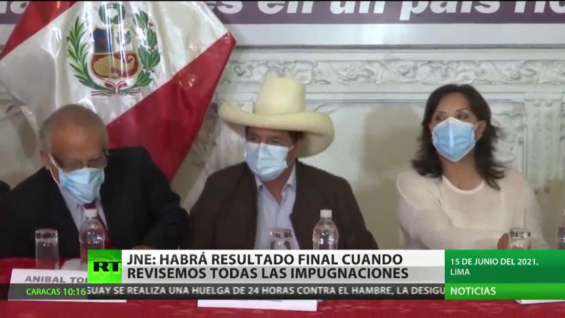 Autoridades electorales de Perú afirman que los resultados finales de las presidenciales se declararán cuando revisen todas las impugnaciones