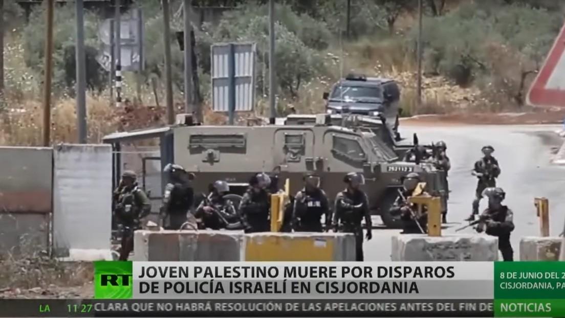 Joven palestino muere disparado por un policía israelí en Cisjordania