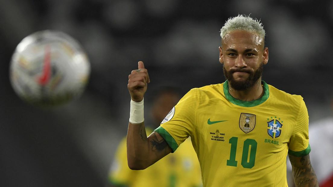 Tras el triunfo de Brasil en la Copa América Neymar llora de emoción por aproximarse a un récord de Pelé
