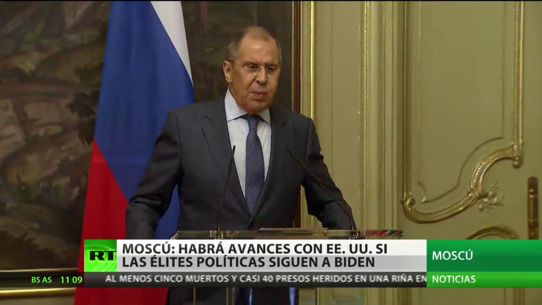 Moscú dice que habrá avances en las relaciones con Washington si sus élites políticas siguen el acercamiento de Biden