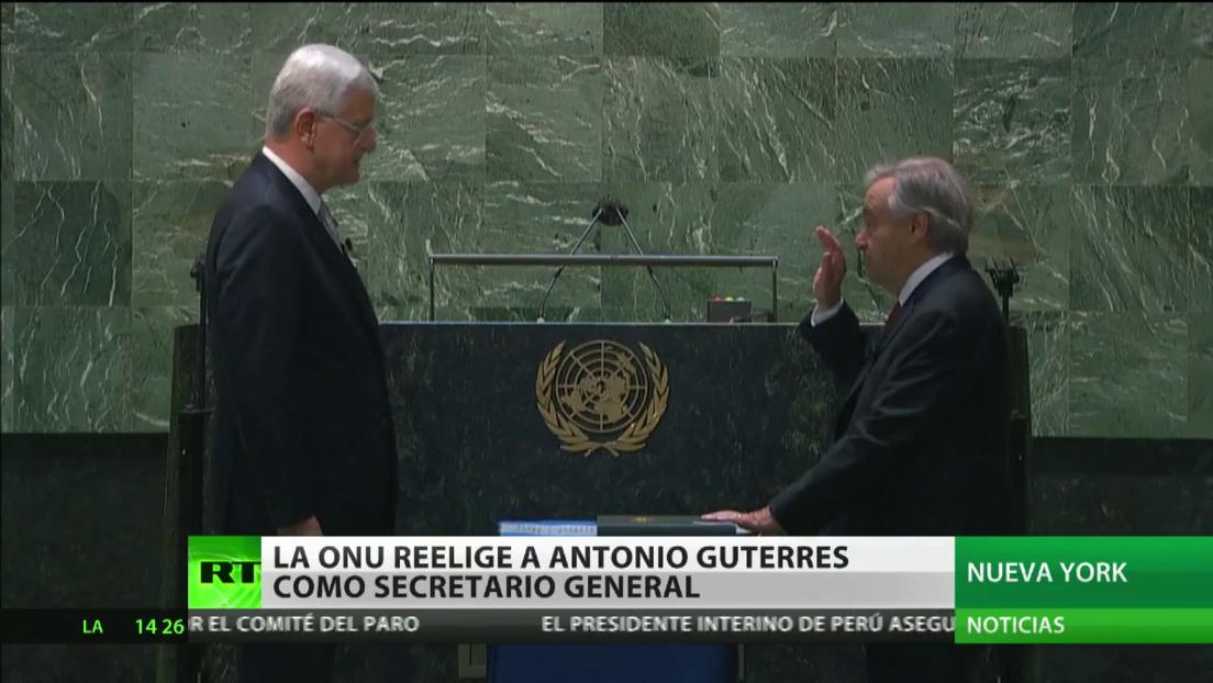 La Asamblea General de la ONU elige a António Guterres para un segundo mandato como secretario general