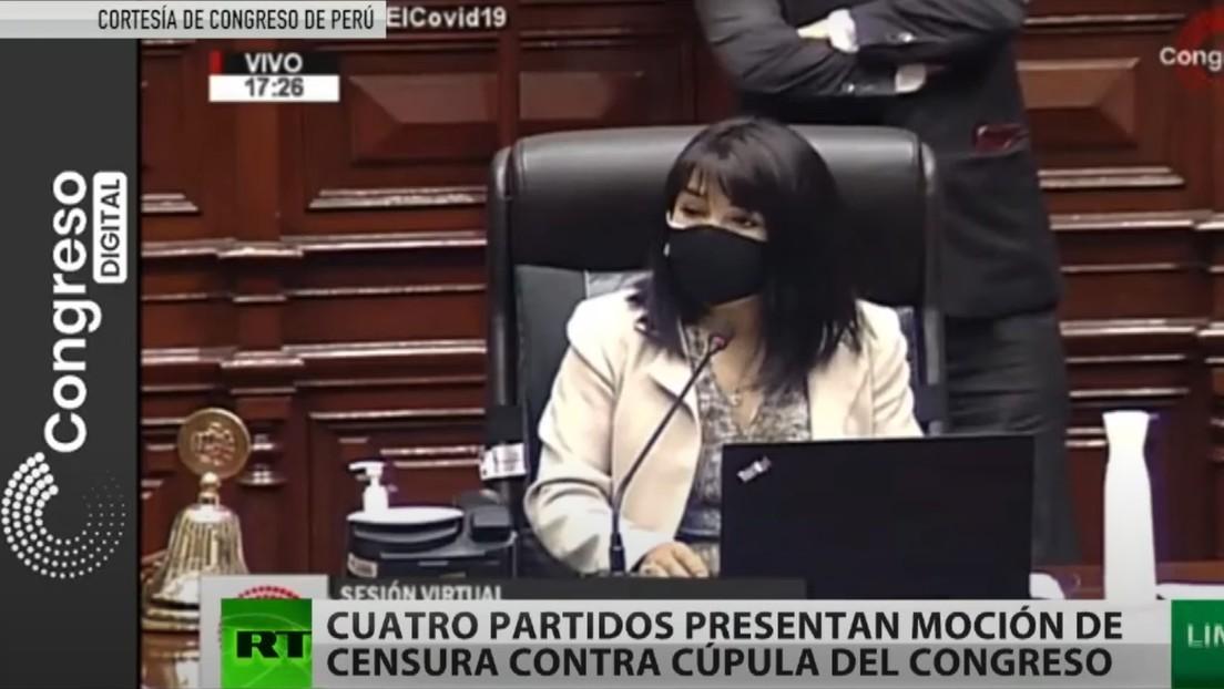 Cuatro partidos políticos presentan una moción de censura contra la cúpula del Congreso en Perú