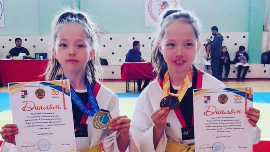 Hermanas salen a la final de un torneo infantil de taekwondo, pero en vez de luchar determinan a la ganadora a piedra, papel o tijera (VIDEO)