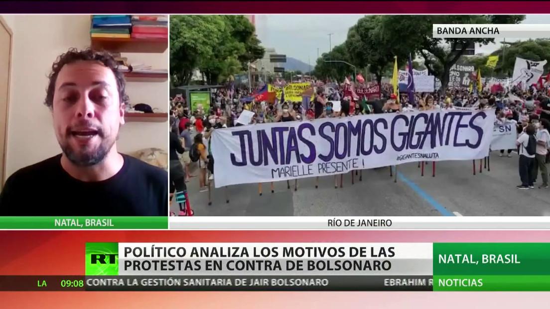 """Político brasileño sobre protestas contra Bolsonaro: """"La gente dice que el Gobierno es más peligroso que el propio virus"""""""
