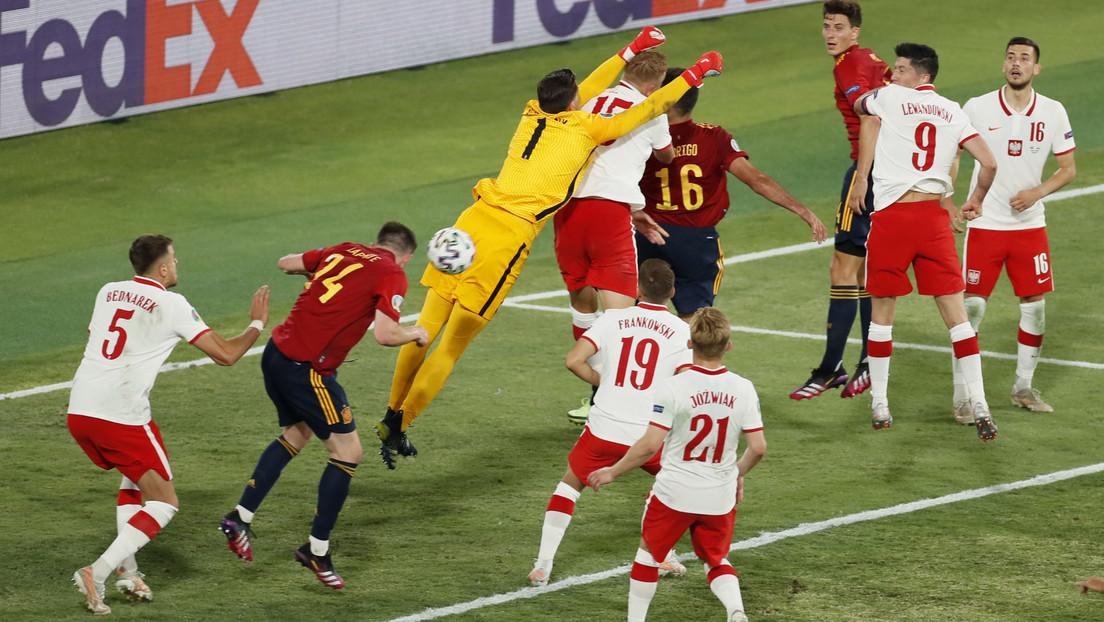 Las selecciones de España y Polonia empatan a un gol en el encuentro disputado por el grupo E de la Euro 2020
