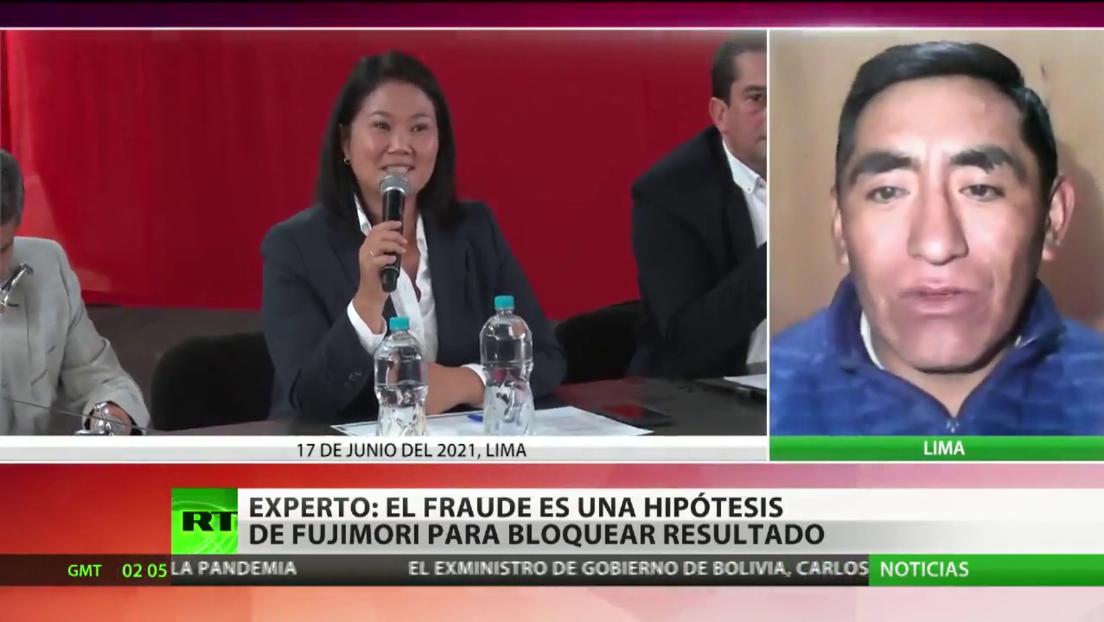 """Experto: """"El fraude electoral es una hipótesis de Fujimori para bloquear el resultado"""""""