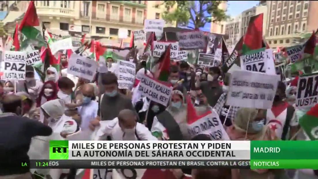 Miles de personas salen a las calles de Madrid para exigir la autonomía del Sáhara Occidental