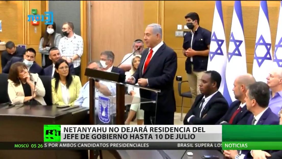 Netanyahu no dejará la residencia del jefe de Gobierno hasta el 10 de julio