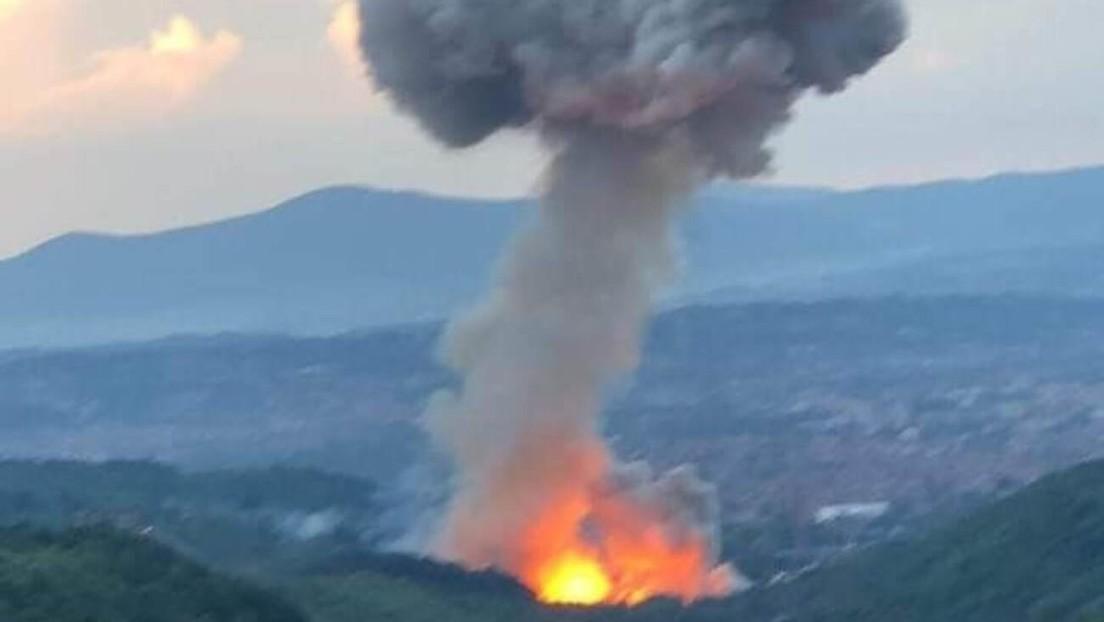 Al menos tres heridos tras unas explosiones en una fábrica de municiones en Serbia por segunda vez en un mes (VIDEOS)