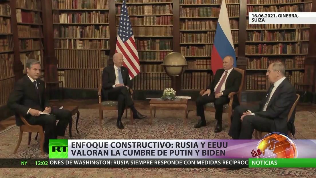 Enfoque constructivo: Rusia y EE.UU. valoran la cumbre entre Putin y Biden