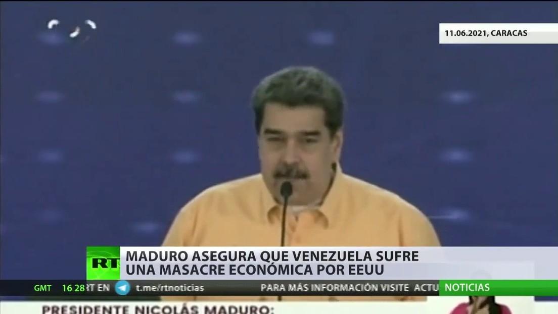 Maduro asegura que Venezuela sufre una masare económica por parte de EE.UU.