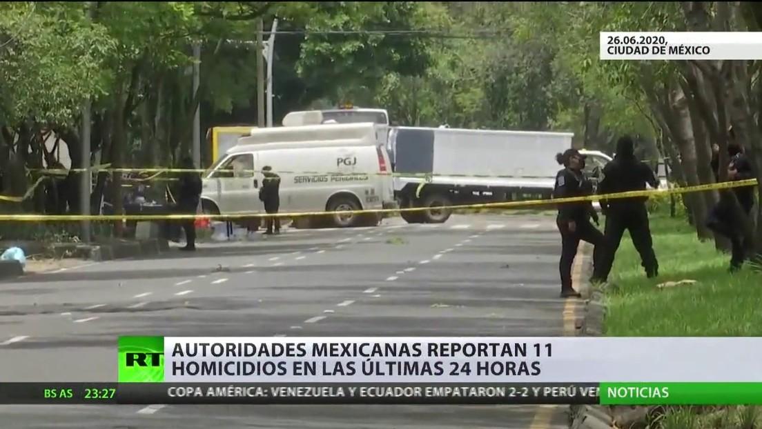 Autoridades mexicanas reportan 11 homicidios en las últimas 24 horas