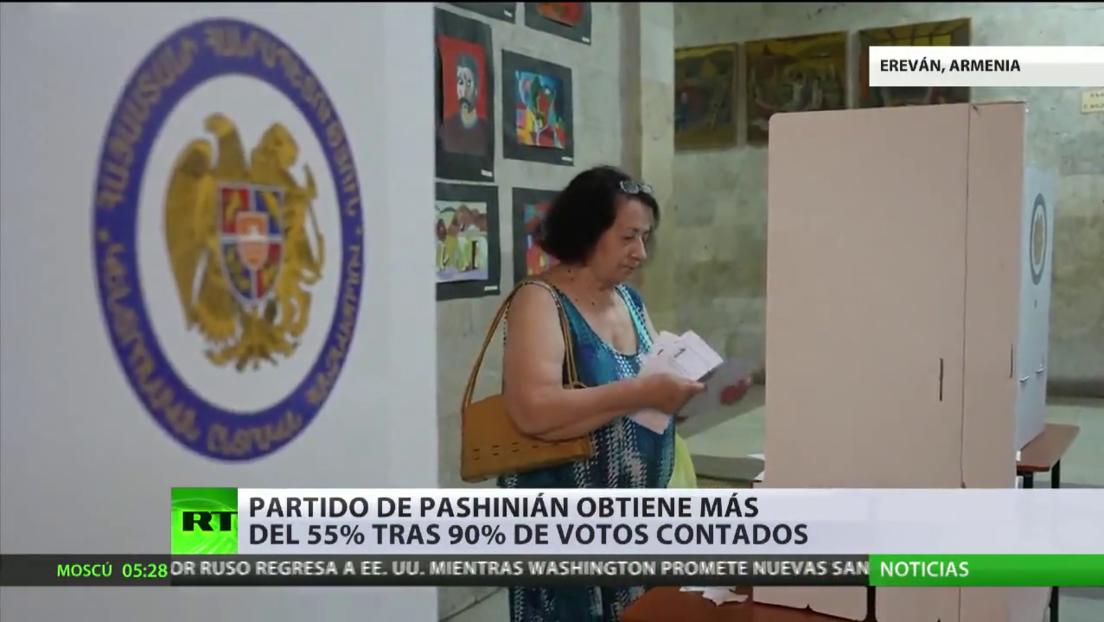 El partido del primer ministro en funciones de Armenia lidera en las elecciones parlamentarias anticipadas, según los primeros resultados