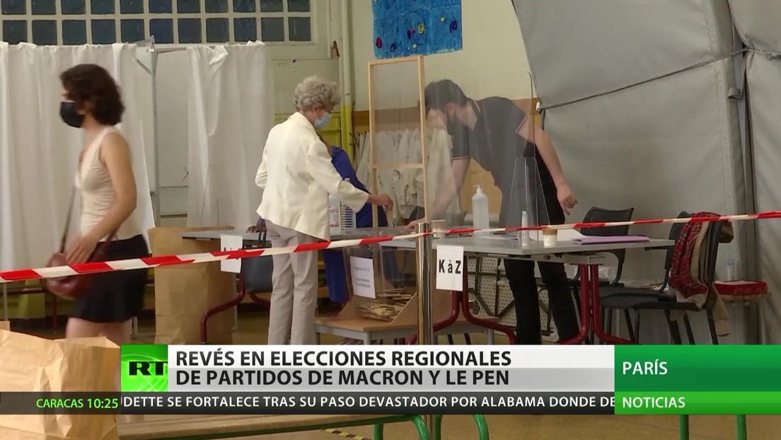 Francia: Revés para los partidos de Macron y de Le Pen en lis comicios regionales