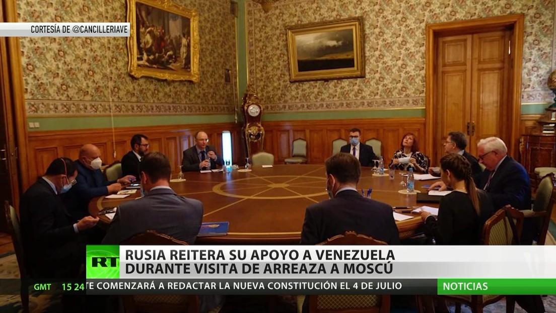 Rusia reitera su apoyo a Venezuela durante la visita de Arreaza a Moscú