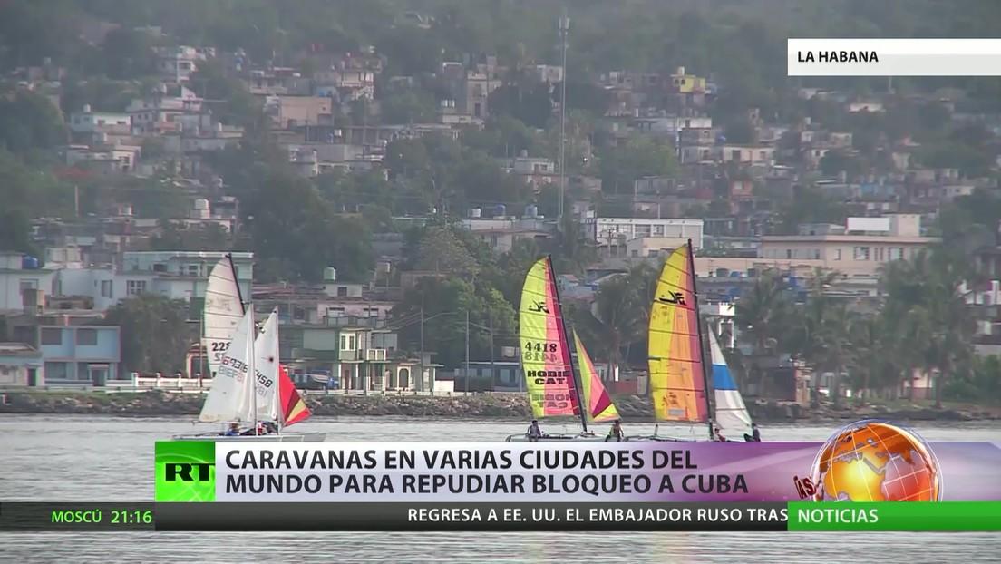 Caravanas en varias ciudades del mundo contra el bloqueo a Cuba