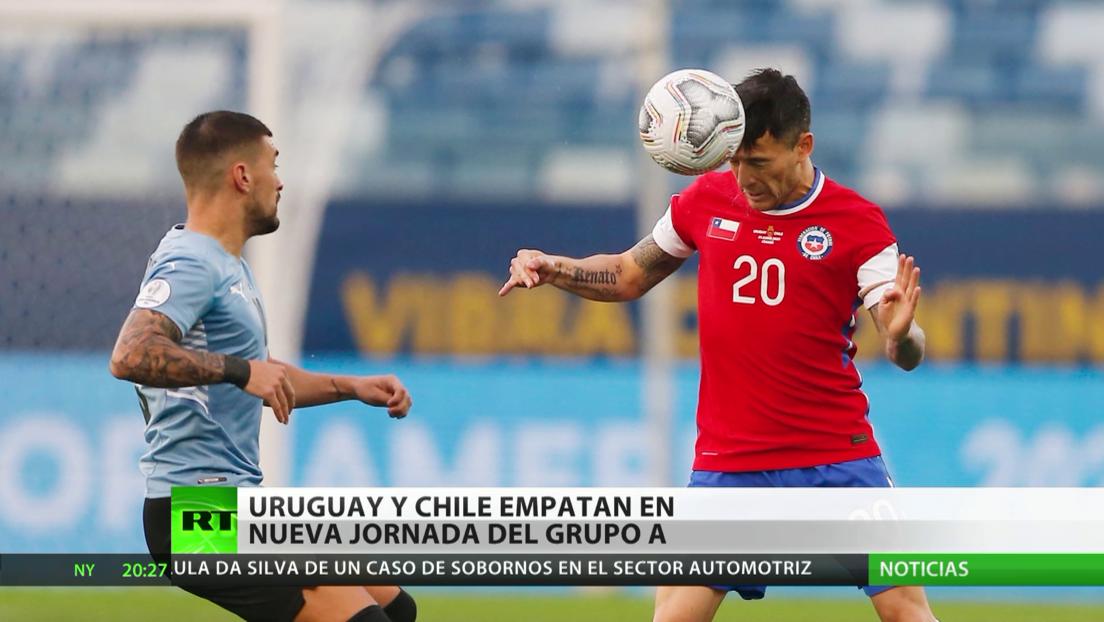 Uruguay y Chile empatan en nueva jornada del grupo A por la Copa América