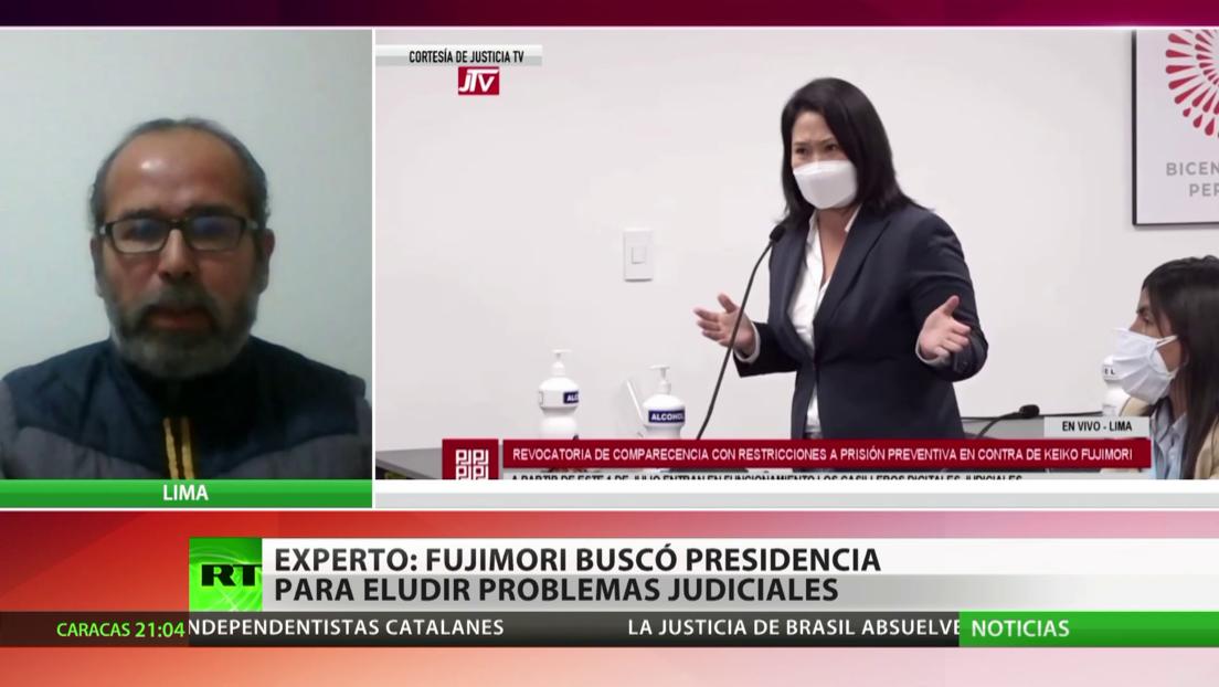 Experto: Fujimori intentó llegar a la presidencia para eludir problemas judiciales