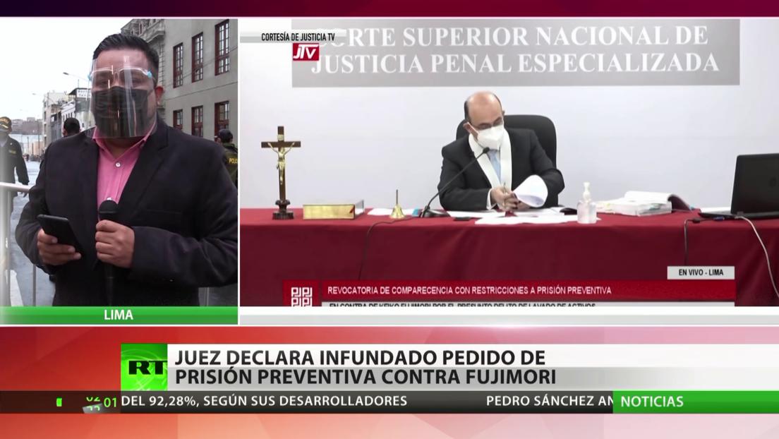 Perú: Un juez declara infundado el pedido de prisión preventiva contra Fujimori