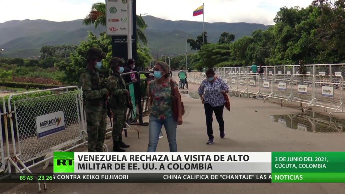 Venezuela rechaza la visita de alto militar de EE.UU. a Colombia