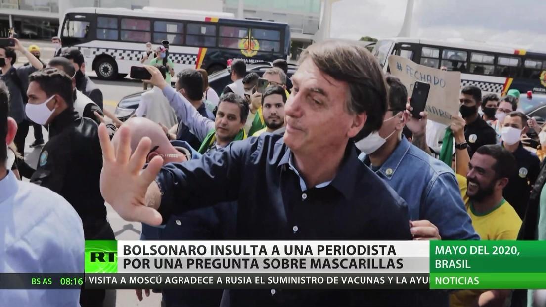 Bolsonaro insulta a una periodista por una pregunta sobre mascarillas