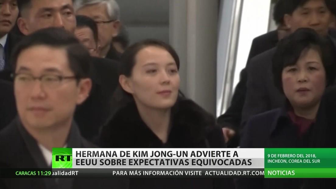 La hermana de Kim Jong Un advierte a EE.UU. sobre sus expectativas equivocadas