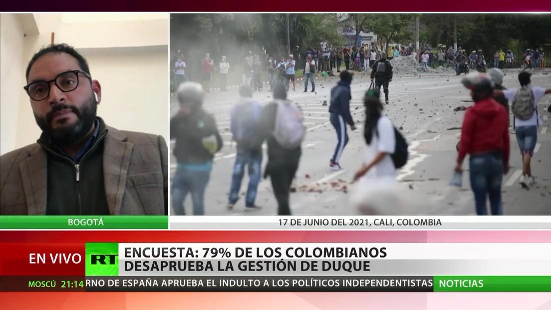 Encuesta: El 79 % de los colombianos desaprueba la gestión de Iván Duque