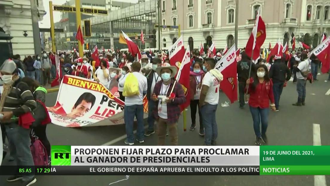 Perú: Proponen fijar plazo para proclamar al ganador de las elecciones presidenciales