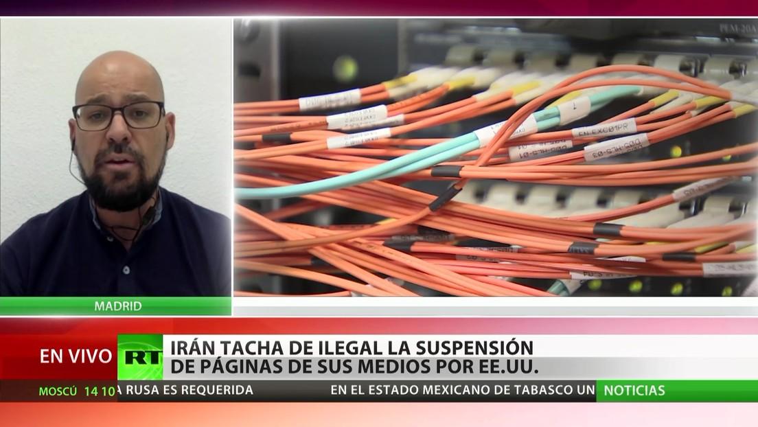 Irán tacha de ilegal la suspensión de páginas de sus medios por EE.UU.