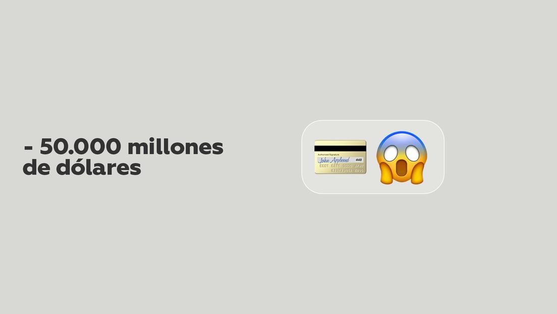 Revisa su cuenta tras salir de copas con sus amigas y ve que tiene un saldo negativo de 50.000 millones de dólares