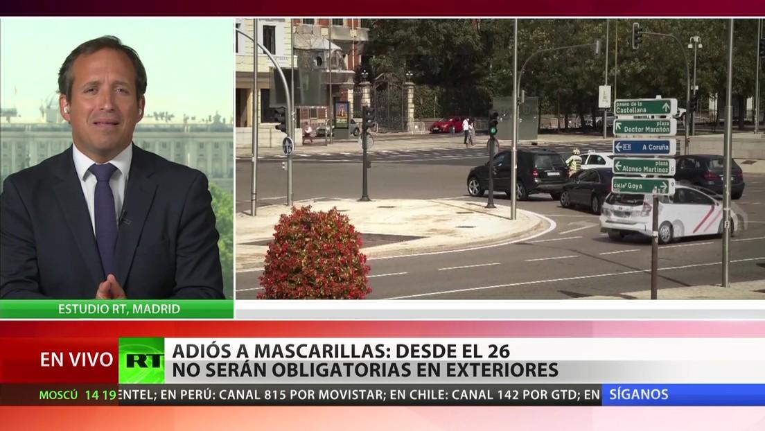 España: Desde el 26 de junio las mascarillas no serán obligatorias en exteriores