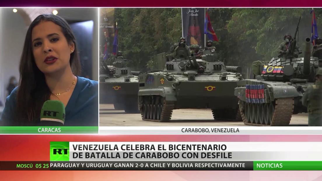 Venezuela celebra el bicentenario de la Batalla de Carabobo con un desfile militar