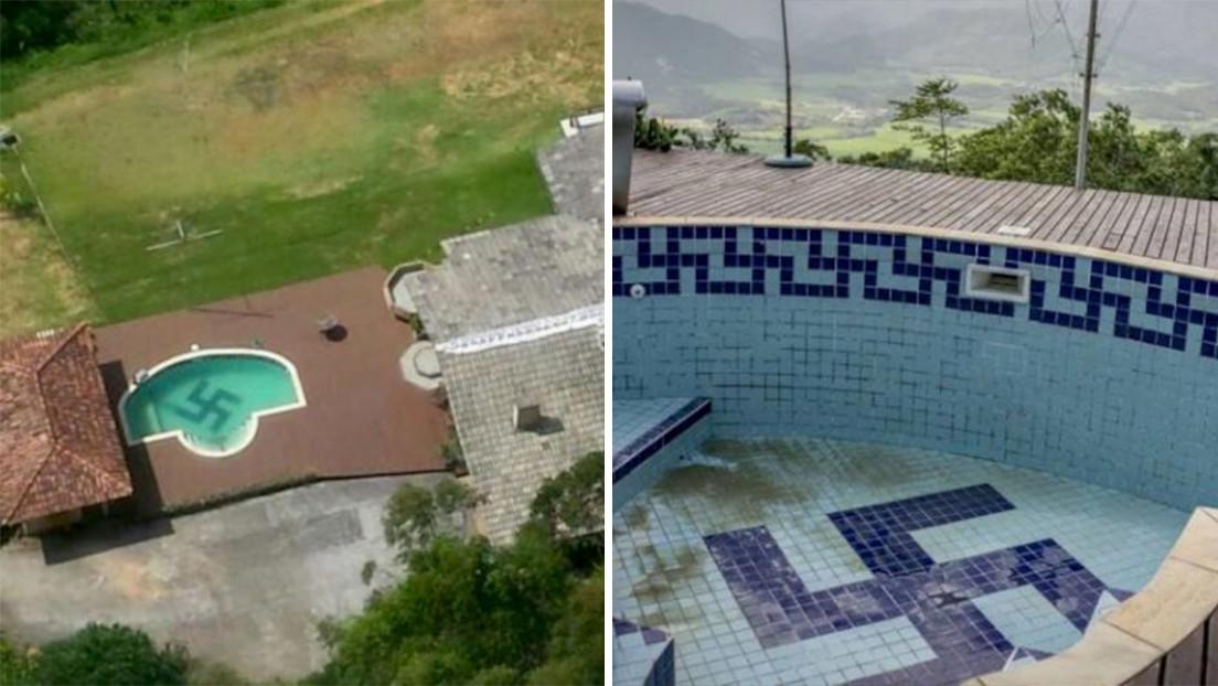 Obligan a un profesor brasileño a reformar su piscina para ocultar una esvástica gigante en el fondo