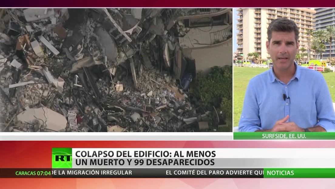 Una treintena de latinoamericanos desaparecidos en el colapso de un edificio en Florida