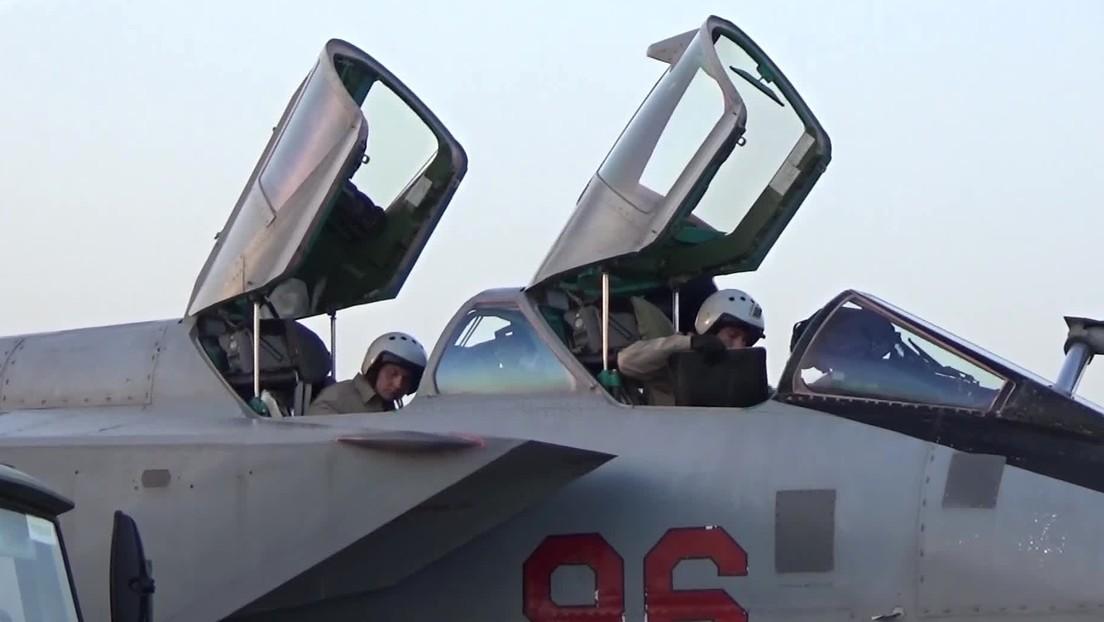 Rusia traslada a su base en Siria dos cazas MiG-31K capaces de portar misiles Kinzhal