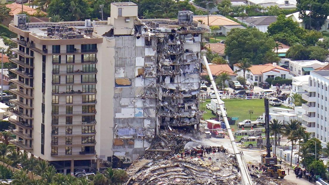 Aumenta a cinco el número de muertos tras el derrumbe del edificio en Florida