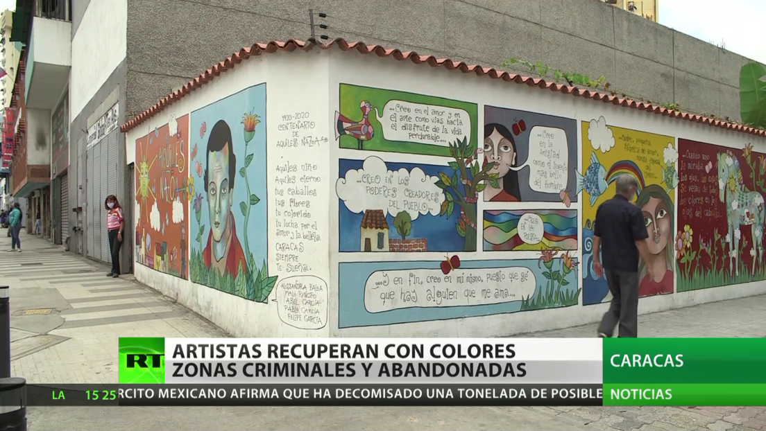 Venezuela: Artistas recuperan con colores zonas criminales y abandonadas
