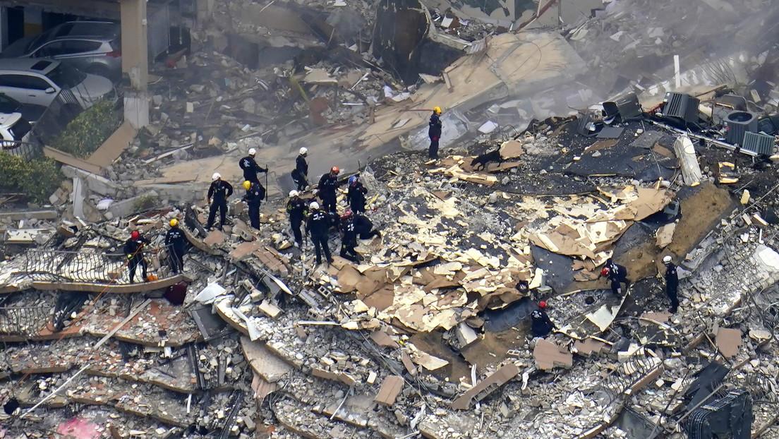 Un transeúnte salva la vida de un adolescente tras el derrumbe del edificio en Florida