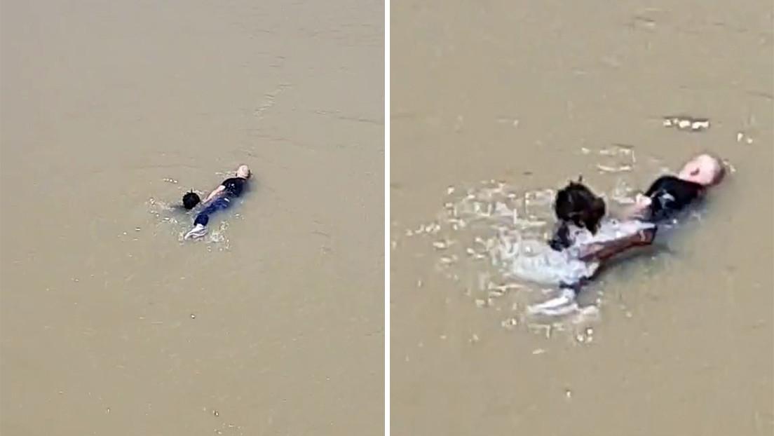 Un inmigrante senegalés salva a un anciano de ahogarse en un río en España (VIDEO)
