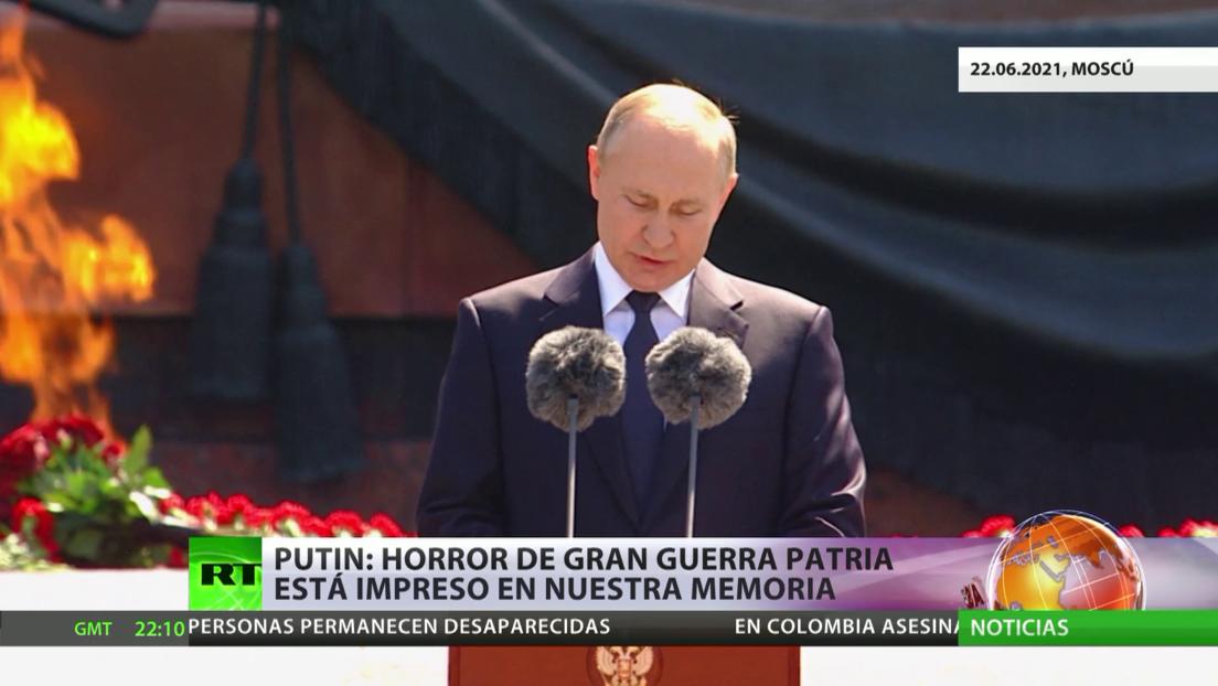 Putin: El horror de la Gran Guerra Patria está impreso en nuestra memoria