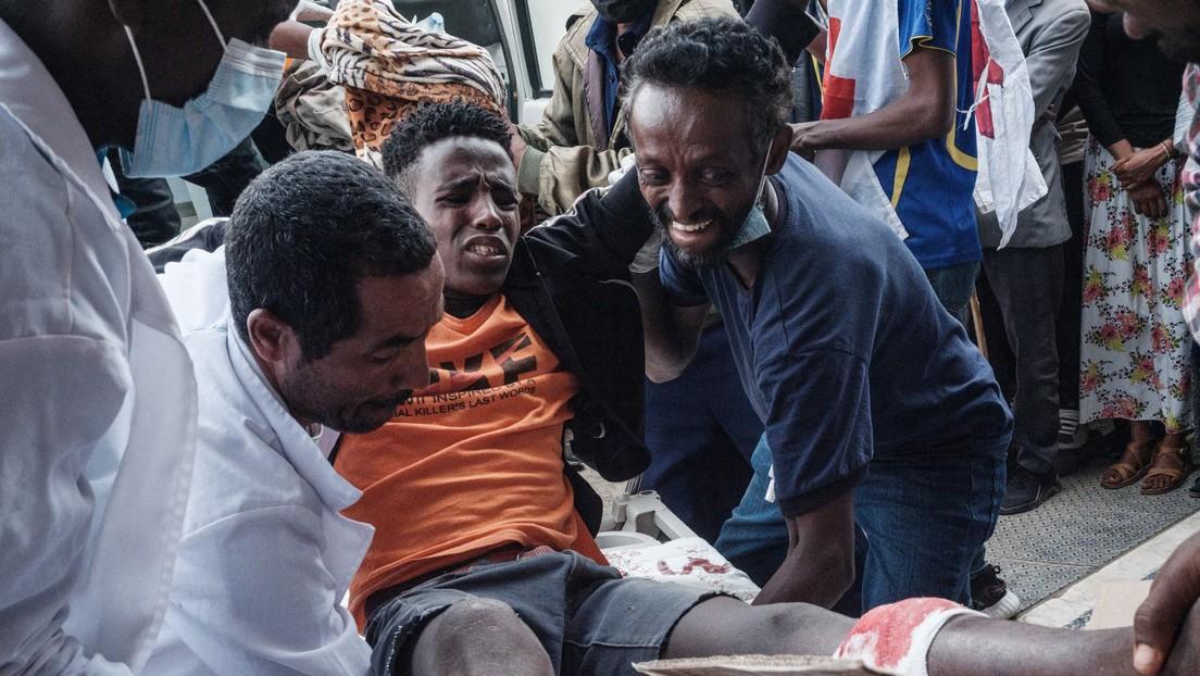 """Los supervivientes del ataque aéreo en Etiopía recuerdan el """"infierno"""" que vivieron durante el bombardeo del Ejército"""