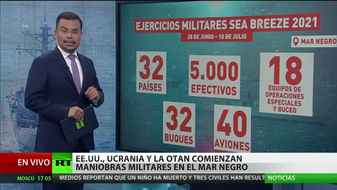 EE.UU., Ucrania y la OTAN comienzan ejercicios militares en el mar Negro